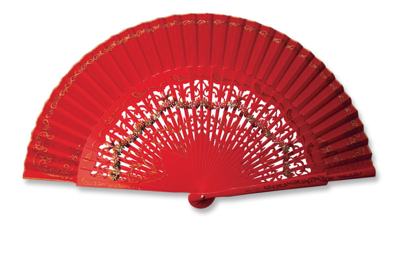 eventail-aragona-rouge