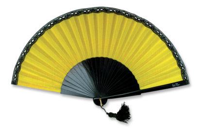 eventail-bello-jaune-dentelle-accessoire-de-mode