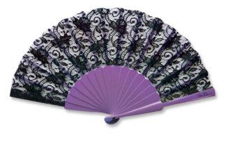 eventail-bodega-violet-dentelle-accessoire-de-mode