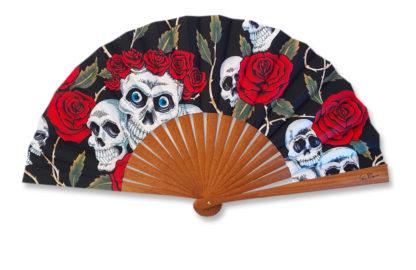 eventail-calatrava-mexique-tete-de-mort-original-accessoire-de-mode