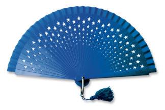 eventail-estrella-bleu-etoile