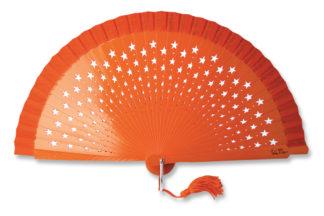 eventail-estrella-orange-etoile-accessoire-de-mode