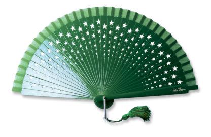 eventail-estrella-vert-etoile-accessoire-de-mode