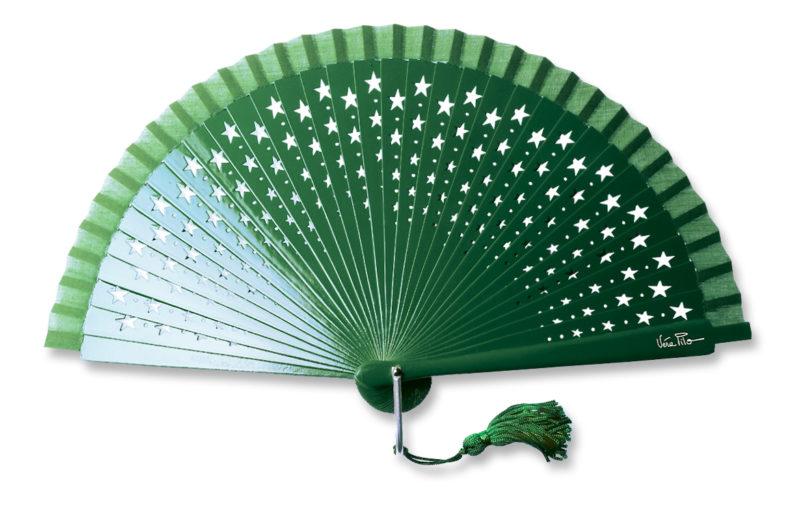 eventail-estrella-vert-etoile