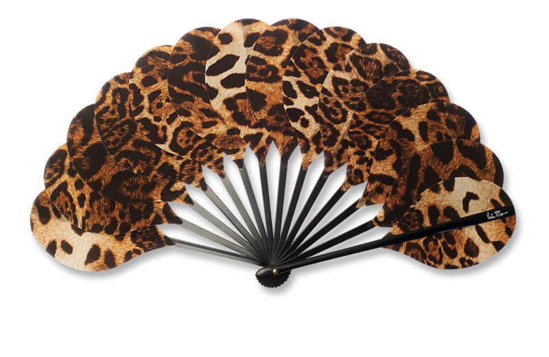 eventail-palmito-felina-panthere-leopard