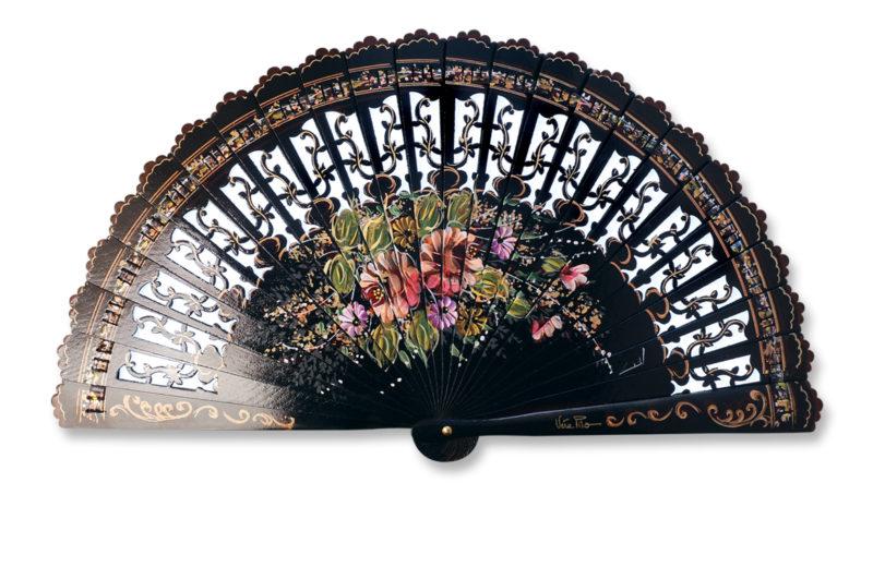 eventail-flores-noir