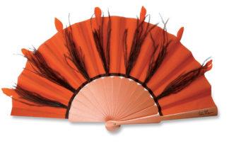 eventail-samba-orange-plumes-autruche-accessoire-de-mode