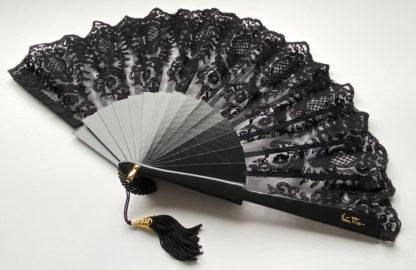 eventail-tosca-noir-cérémonie-accessoire-de-mode-dentelle