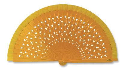 eventail-unicolo-jaune-coeur-accessoire-de-mode