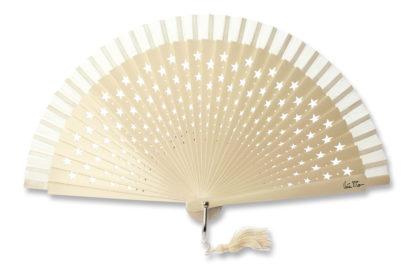 eventail-estrella-ivoire-etoile-pompon